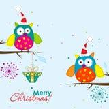 вектор шаблона приветствию рождества карточки Стоковые Изображения