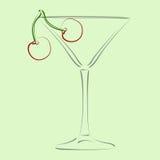 вектор шаблона martini предпосылки стеклянный Стоковые Фото