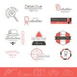 Вектор шаблонов логотипа детективного агентства Стоковые Фото