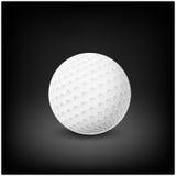 Вектор шара для игры в гольф реалистический Изображение одиночного оборудования гольфа, шарика иллюстрация на темной предпосылке  Стоковое фото RF