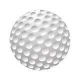 Вектор шара для игры в гольф реалистический Изображение одиночного оборудования гольфа, иллюстрации шарика изолированной на белой Стоковое Изображение