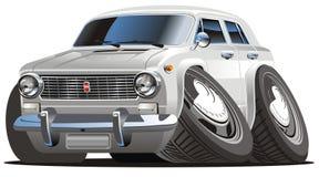 вектор шаржа автомобиля ретро Стоковые Изображения