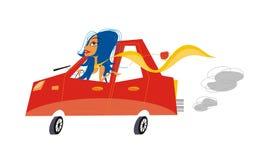 вектор шаржа автомобиля Стоковая Фотография RF