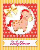 Вектор шаржа лошади младенца изолированный улыбкой простой Стоковые Изображения RF
