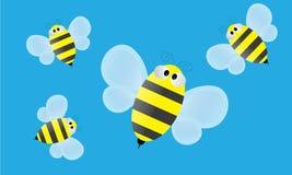 Вектор шаржа пчелы Стоковое Изображение RF