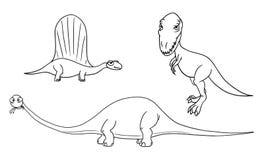 Вектор шаржа установил 03 из старых извергов динозавра Стоковое фото RF