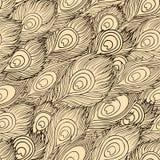 Вектор шаржа этнический оперяется безшовная картина Стоковое Изображение RF
