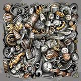 Вектор шаржа doodles автомобильная иллюстрация