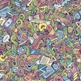 Вектор шаржа doodles картина школы безшовная Стоковые Изображения