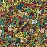 Вектор шаржа doodles нарисованная рукой рамка школы Стоковые Фотографии RF