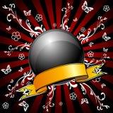вектор шарика черный глянцеватый Стоковые Изображения