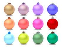 Вектор шариков рождества Стоковые Изображения RF
