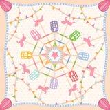 Вектор шарфа картины масленицы колеса Ferris Стоковые Фото