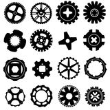 вектор шестерни установленный иконами Стоковое Изображение