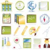 вектор школы иконы установленный Стоковые Изображения RF