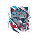 Вектор шлема бейсбола иллюстрации свободный бесплатная иллюстрация