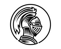 Вектор шлема рыцаря, смог быть пользой как значок или воплощение логотипа бесплатная иллюстрация