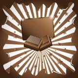 вектор шоколада предпосылки иллюстрация штока
