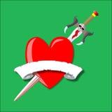 вектор шпаги сердца Иллюстрация вектора