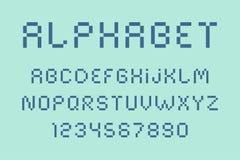 Вектор шрифта и алфавита пиксела Стоковое Фото