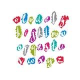 Вектор шрифта сценария, письма алфавита вектора Стоковое Изображение RF