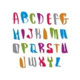 Вектор шрифта сценария, письма алфавита вектора Стоковые Фото