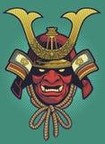 Вектор шлема самураев Стоковое фото RF