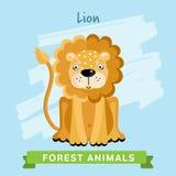 Вектор льва, животные леса Стоковые Изображения RF