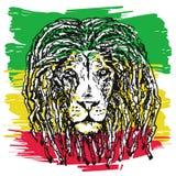 Вектор льва Rasta иллюстрация штока