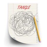 Вектор эскиза каракулей путать Круг чертежа Запутанный хаотический Doodle Разум, Brainwork Сферически конспект иллюстрация бесплатная иллюстрация