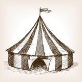 Вектор эскиза шатра цирка нарисованный рукой Стоковая Фотография RF