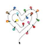 Вектор электрической лампочки влюбленности сердца Стоковые Фото