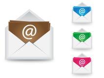 Вектор электронной почты в 4 цветах Иллюстрация вектора