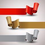 вектор элементов конструкции установленный тесемками Шаблон дизайна infographic Стоковые Фото