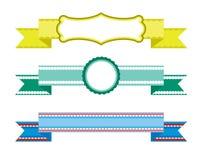 вектор элементов конструкции установленный тесемками Стоковая Фотография