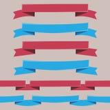 вектор элементов конструкции установленный тесемками Стоковое Фото