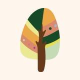 Вектор элементов темы дерева, eps Стоковое Изображение
