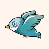 Вектор элементов темы шаржа птицы, eps иллюстрация штока