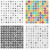 100 вектор Южной Америки установленный значками различный Стоковое фото RF