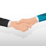 Вектор людей концепции рукопожатия корпоративного бизнеса Стоковые Изображения RF