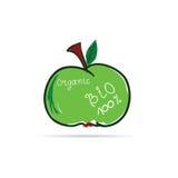 Вектор Яблока органический Стоковое Изображение RF