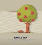 Вектор яблони Стоковые Изображения