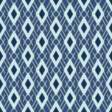 Вектор японского стиля картины Argyle безшовный Диамант сини индиго руки вычерченный иллюстрация вектора