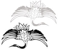 вектор японца крана Стоковое Изображение RF