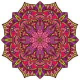 Вектор, яркая, красочная мандала Стоковая Фотография