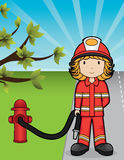 вектор девушки пожара Стоковое Фото