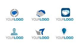 вектор доверия финансовохозяйственного логоса установленный Стоковое Фото
