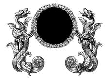вектор драконов Стоковое фото RF