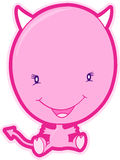 вектор дьявола розовый Стоковое Изображение