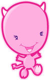 вектор дьявола розовый Стоковые Фотографии RF